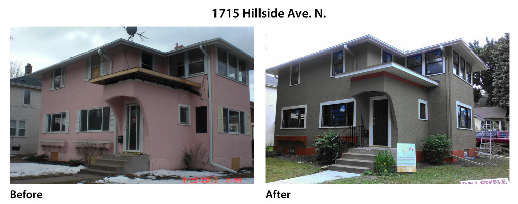 hillside before after