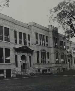 Whittier School in Black and White